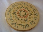 Classic 1950's Powder Compact by Vogue Vanities - Floral Pattern (Sold)